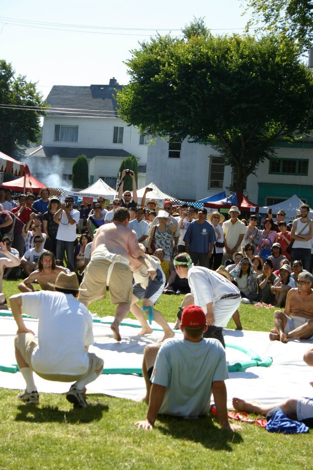 Sumo Wrestling at the Powell Street Festival