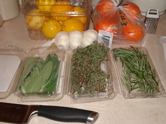 Citrus, Herb and Garlic Butter Ingredients