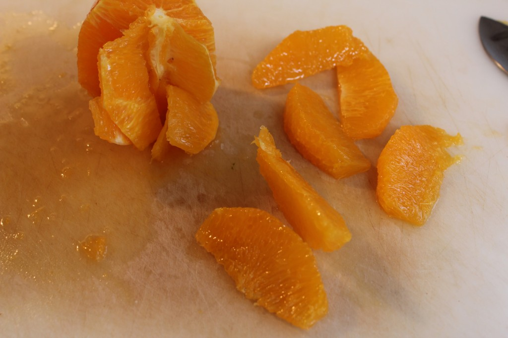 De-veining an Orange
