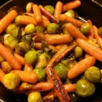 Brussels and carrots.